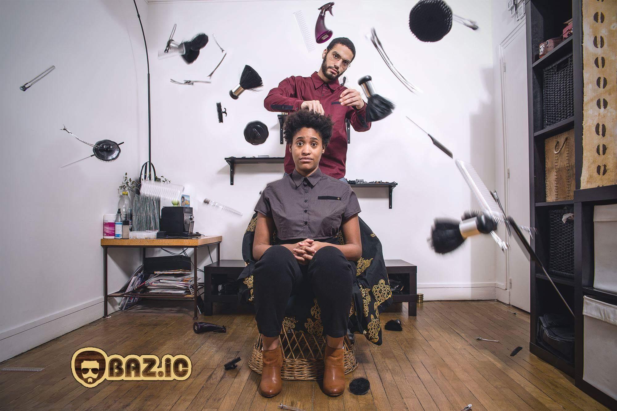 Bazic - Coiffeur cheveux bouclés frisés afros